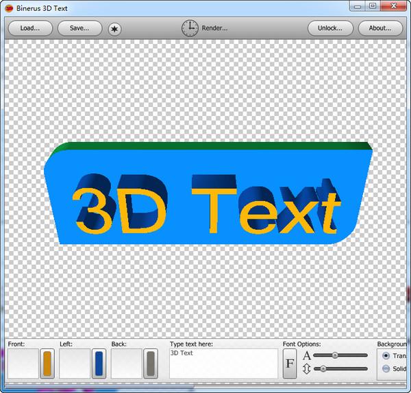 binerus 3D Text
