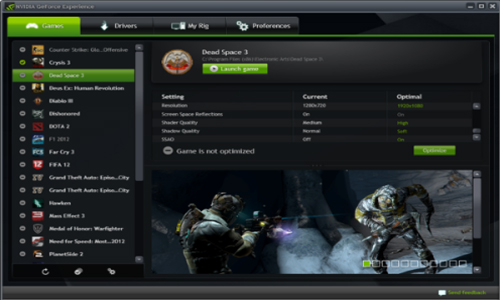 NVIDIA GeForce Experience截图